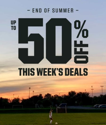 End-of-Summer Deals up to 50% Off