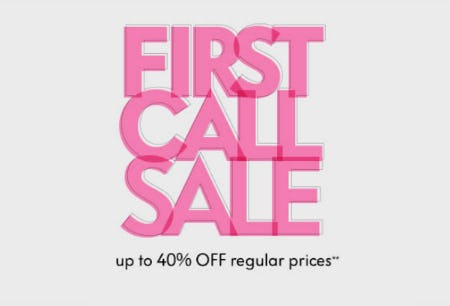 Up to 40% Off First Call Sale from Neiman Marcus