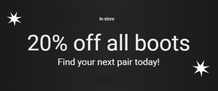 20% Off All Boots from ALDO