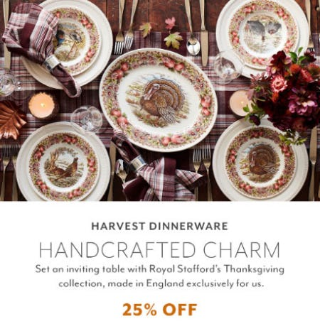 25% Off Harvest Dinnerware from Sur La Table