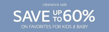 Clearance Sale up to 60% Off from Pottery Barn Kids