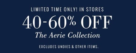 40-60% Off The Aerie Collection