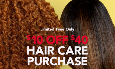 $10 Off $40 Hair Care Purchase
