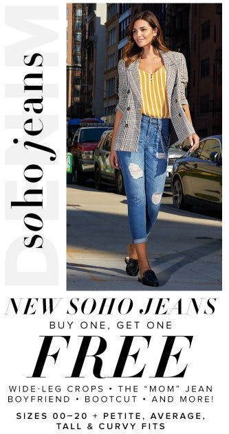 New Soho Jeans Buy One, Get One Free