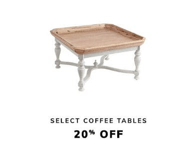 20% Off Select Coffee Tables from Pier 1 Imports