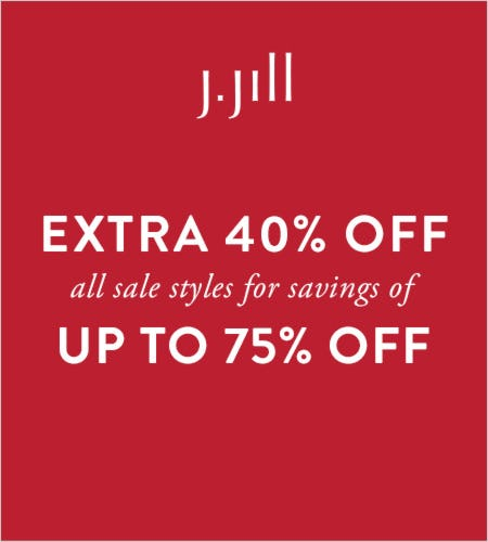 Extra 40% off* All Sale Styles from J.Jill
