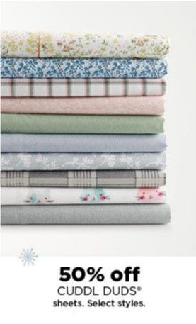 50% Off Cuddl Duds Sheets