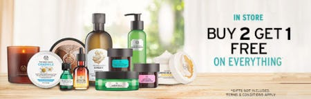 B2G1 Free Everything from The Body Shop