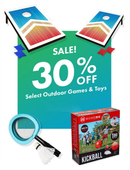 30% Off Select Outdoor Games & Toys from Party City