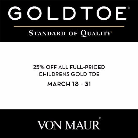 Children's Gold Toe Sale from Von Maur