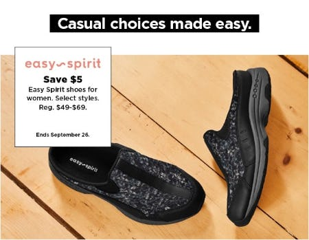 Save $5 Easy Spirit Shoes for Women from Kohl's