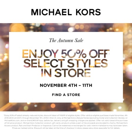 THE AUTUMN SALE from MICHAEL KORS