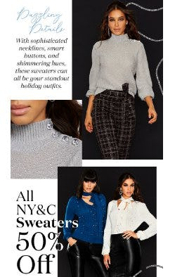 All NY&C Sweaters 50% Off from New York & Company