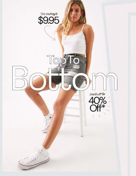 Summer Steals: 40% Off Shorts and $9.95 Tees & Tanks from PacSun