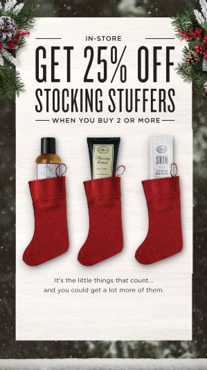 25% Off Stocking Stuffers