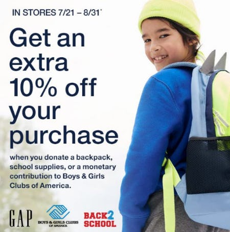 Get an Extra 10% Off Your Purchase from Gap