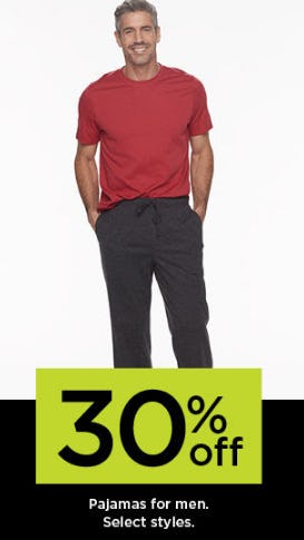 30% Off Pajamas for Men