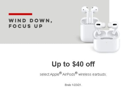 Up to $40 Off Select Apple AirPods Wireless Earbuds
