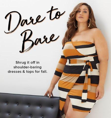 Shoulder-Baring Dresses & Tops for Fall