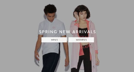 Spring New Arrivals from A|X Armani Exchange