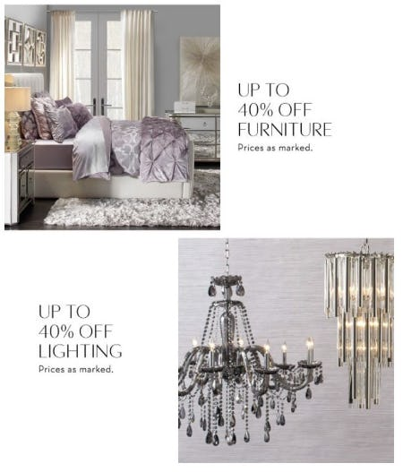 Up to 40% Off Furniture and Lighting from Z Gallerie