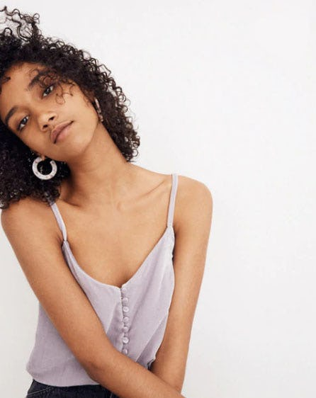 Velvet Button-Down Cami from Madewell