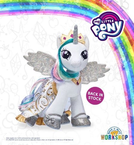 Back by Popular Pony Demand: Make Your Own Princess Celestia at Build-A-Bear Workshop!®