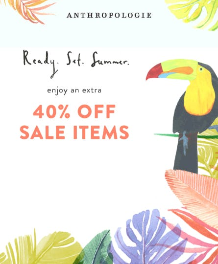 Extra 40% Off Sale Items from Anthropologie