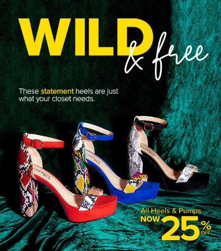 25% Off All Heels & Pumps from Rainbow