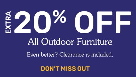 Extra 20% Off All Outdoor Furniture from Pier 1 Imports