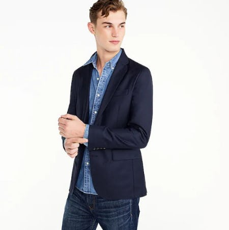 Ludlow Slim-Fit Unstructured Blazer in American Wool from J.Crew-on-the-island