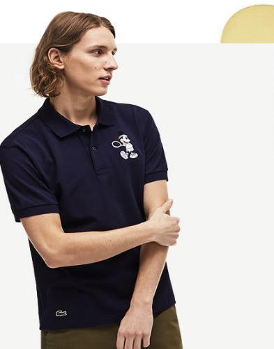 New Polos Featuring Mickey & Minnie from Lacoste