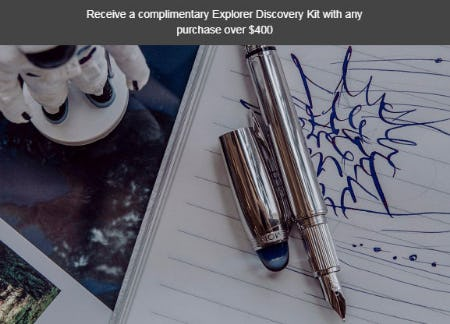 Free Gift with Any PUrchase Over $400 from Montblanc