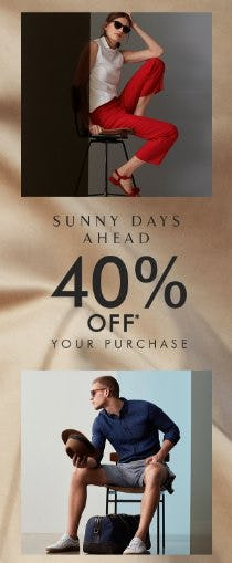 40% Off Your Purchase from Banana Republic
