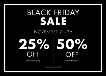 Black Friday Sale from Swarovski