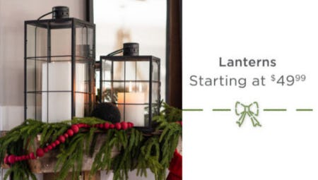Lanterns Starting at $49.99 from Kirkland's Home