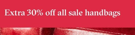 Extra 30% Off All Sale Handbags