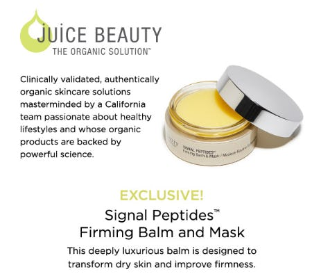 Signal Peptides Firming Face Balm & Mask from Blue Mercury