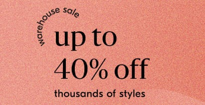 Warehouse Sale from West Elm