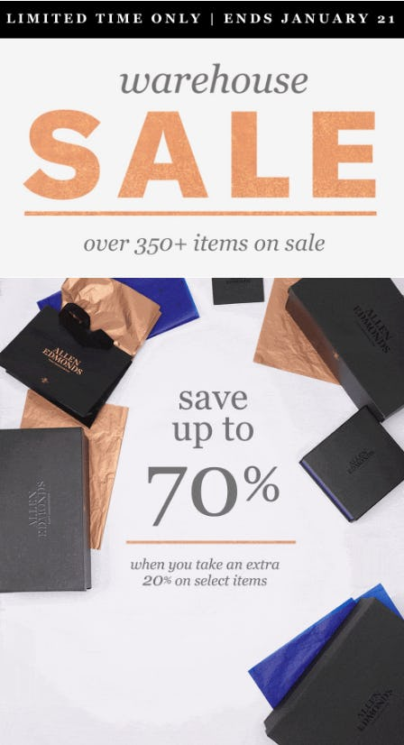 Warehouse Sale: Up to 70% Off from Allen Edmonds