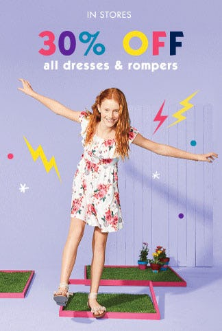 30% Off All Dresses & Rompers from Justice
