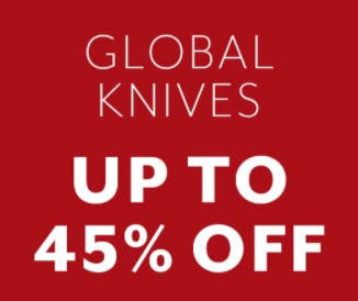 Up to 45% Off Global Knives from Sur La Table