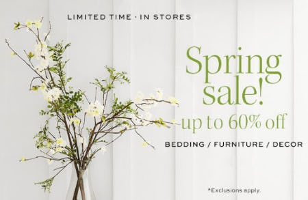 Up to 60% Off Spring Sale from Pottery Barn