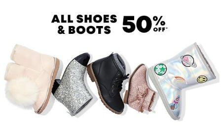 All Shoes & Boots 50% Off from The Children's Place