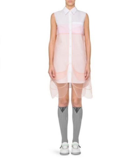 Prada Tulle Overlay Dress