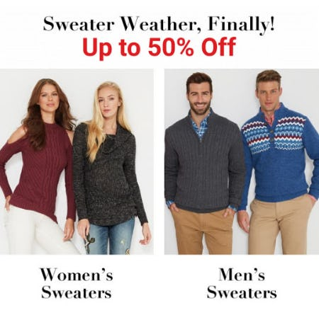 Up to 50% Off Sweater