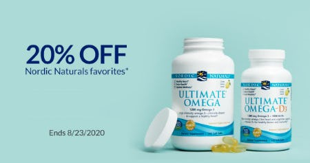 20% Off Nordic Naturals Favorites from The Vitamin Shoppe