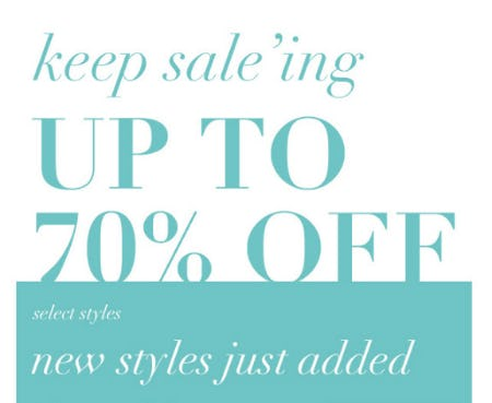 Up to 70% Off Select Styles from Everything But Water