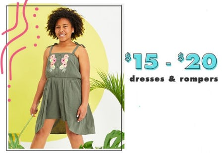 $15 - $20 Dresses & Rompers from Justice