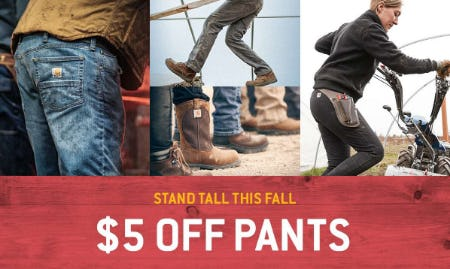 $5 Off Pants from Carhartt